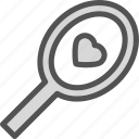 heart, irror, love, romance icon