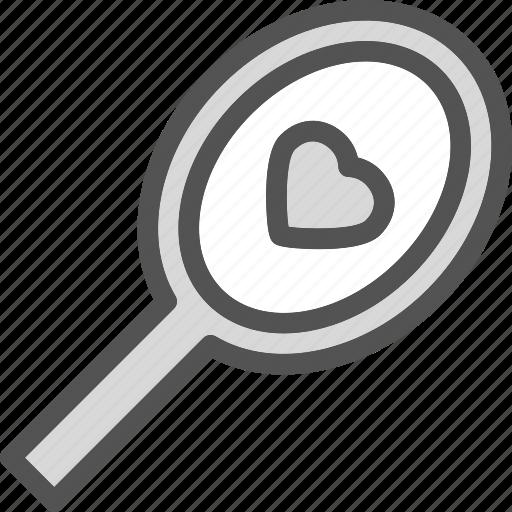 heart, irror, love, romance icon