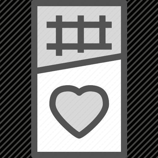 heart, hocolatebar, love, romance icon