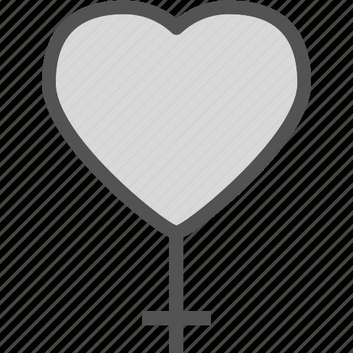 emale, heart, love, romance icon
