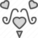 heart, love, romance, ustache icon