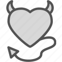evil, heart, love, romance icon