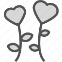 heart, love, lower, romance icon
