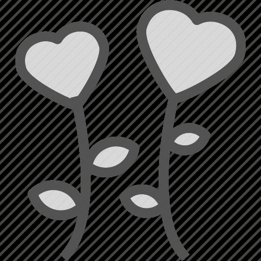 heart, love, lower, romance icon