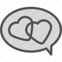 hat, heart, love, romance icon
