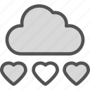 heart, loud, love, romance icon