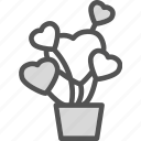 heart, lant, love, romance icon