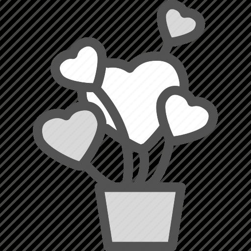 heart, lant, love, romance icon
