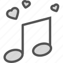heart, love, romance, usic icon