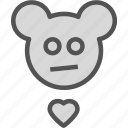 eddybear, heart, love, romance icon