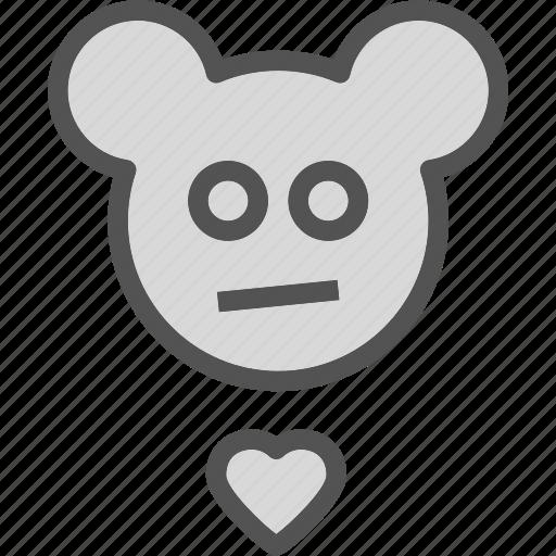 eddybear, heart, love, romance icon