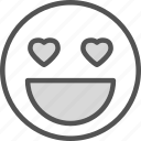 heart, love, moticon, romance icon