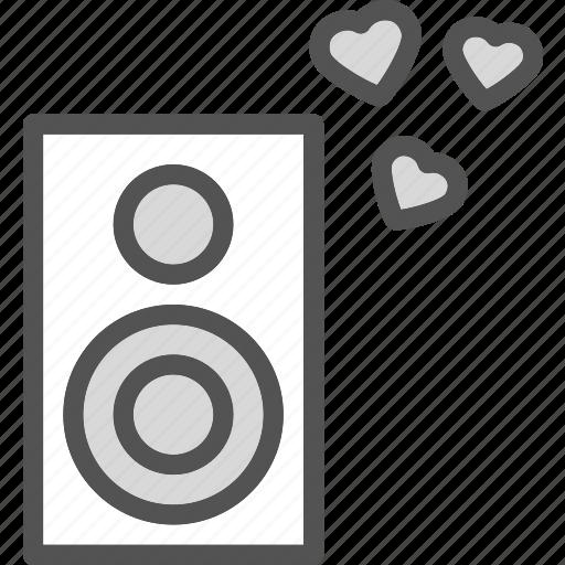 heart, love, omanticmusic, romance icon