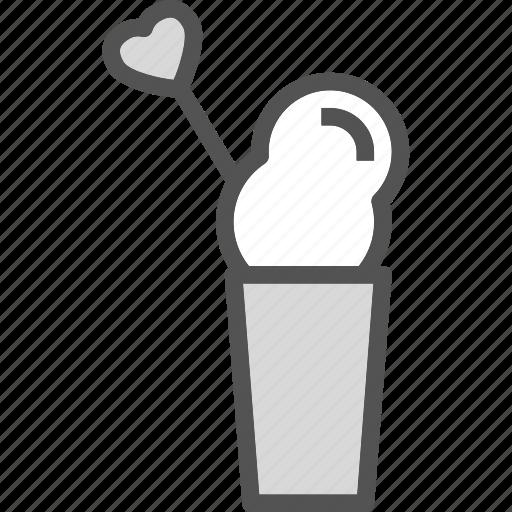 cecreamcup, heart, love, romance icon