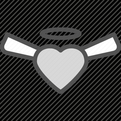 heart, love, ngel, romance icon