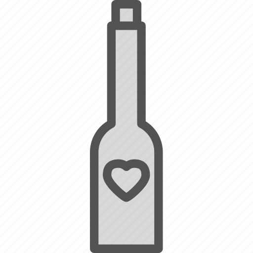hampagne, heart, love, romance icon