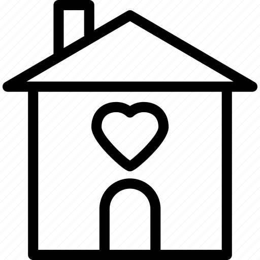 heart, house, love, romance icon
