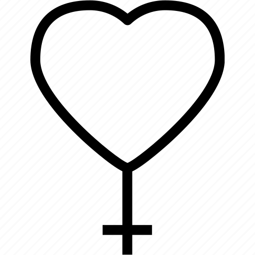female, heart, love, romance icon