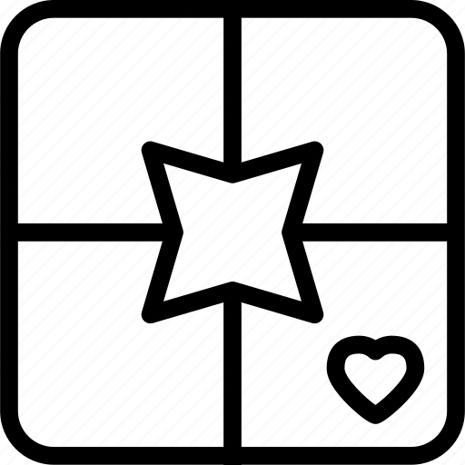 heart, love, present, romance icon