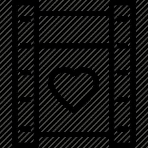 heart, love, movie, romance icon