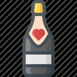 celebration, champagne, day, love, romantic icon