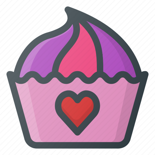celebration, cupcake, day, love, romantic icon