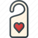 celebration, day, door, hanger, love, romantic icon
