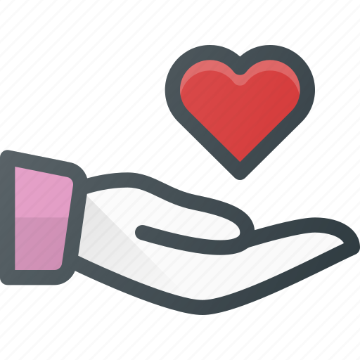 give, hand, heart, hold, love, share icon