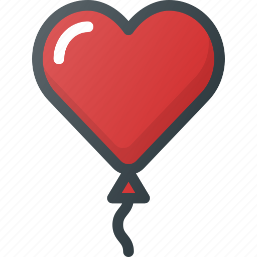 Ballonromantic, celebration, day, heart, love icon - Download on Iconfinder