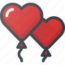 balloons, celebration, day, heart, love, romantic icon