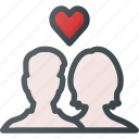 celebration, couple, day, in, love, romantic icon