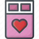 bed, celebration, day, hotel, love, romantic icon