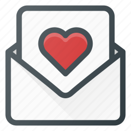 celebration, day, letter, love, mail, romantic icon