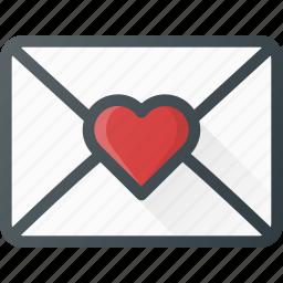 celebration, day, letter, love, mail, romantic icon