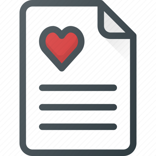 celebration, day, document, letter, love, romantic icon
