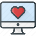 computer, love, message icon