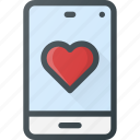 love, message, mobile icon