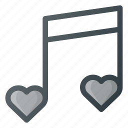 love, music, sign, song icon