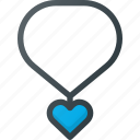 heart, jewelry, medal, necklace icon