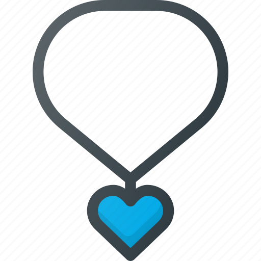 Heart, jewelry, medal, necklace icon - Download on Iconfinder