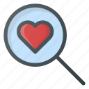 blind, date, love, search icon