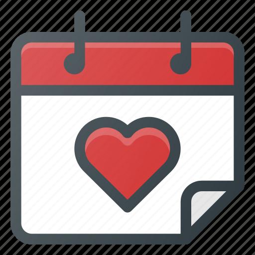 calendar, celebration, day, love, romantic icon