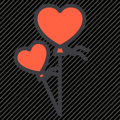 d9f6a1b0f Balloon, couple, design, heart, love icon