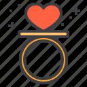 couple, design, heart, love, ring, wedding icon