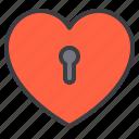 couple, design, favorite, heart, key, love icon