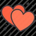 couple, design, heart, love, pair icon
