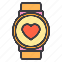 couple, design, health, heart, love, watch icon