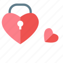 favorite, key, lock, locked, love, password, protection icon