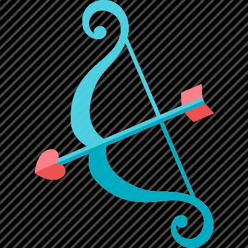 archery, book, bookmark, favorite, heart, love icon