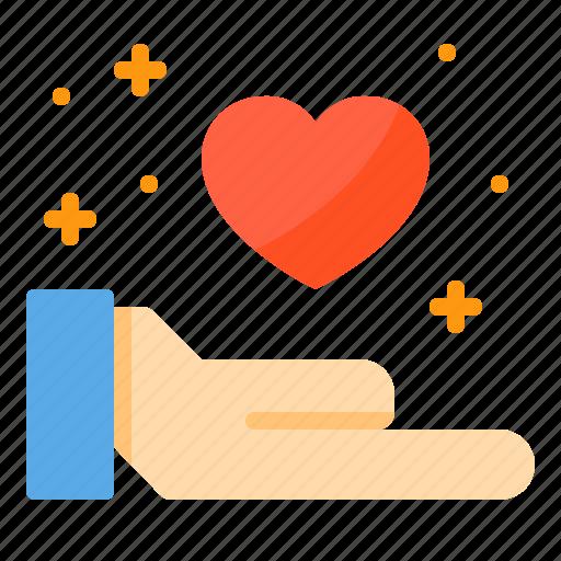 care, couple, design, heart, love, share icon